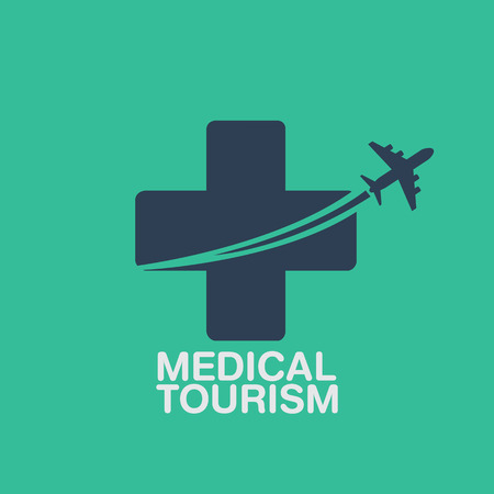 medical tourism vector background Çizim