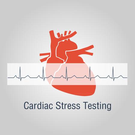 stress testing: Cardiac Stress Testing logo vector icon design