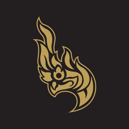 Snake logo in traditional Thai art, Naga Thai dragon