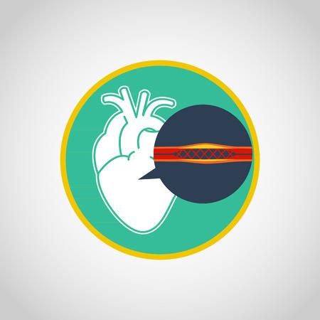 catheter: cardiac catheterization vector logo icon design