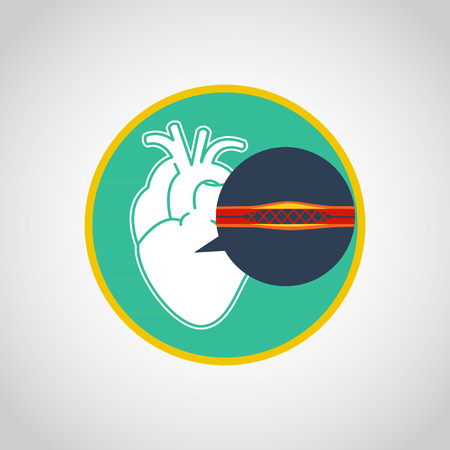cardiac catheterization vector logo icon design