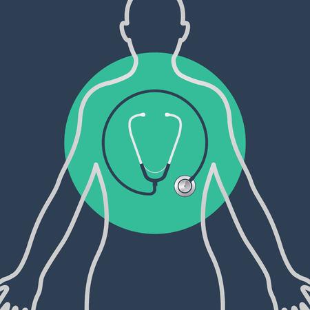 a physical exam vector logo icon design