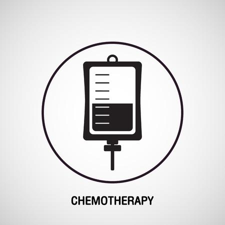 Progettazione dell'icona di vettore di logo medico di CHEMOTERAPIA