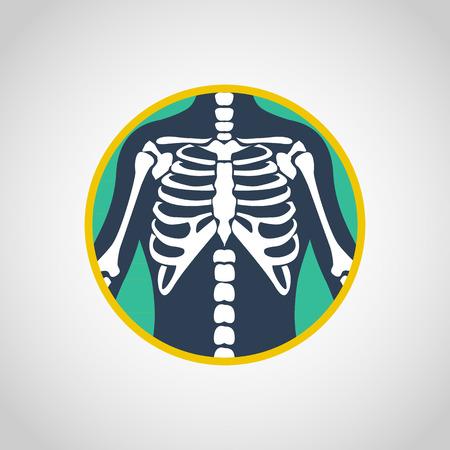chest x-ray vector logo icon design