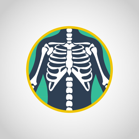 chest x-ray vector logo icon design