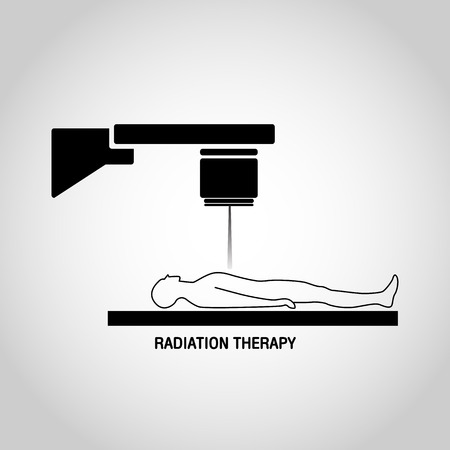 radiation therapy: Radiation therapy Medical logo vector icon design