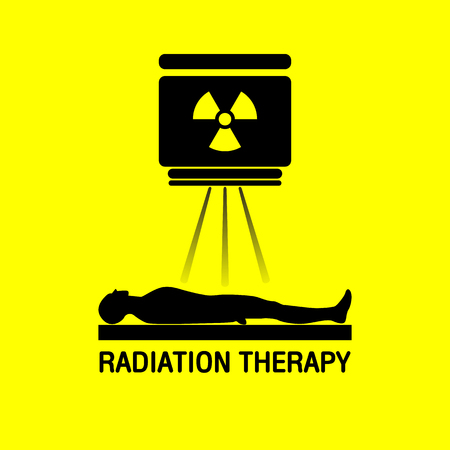 radiotherapy: Radiation therapy Medical logo vector icon design