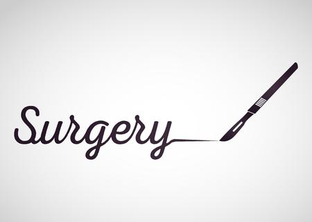 SURGERY medical vector logo icon design