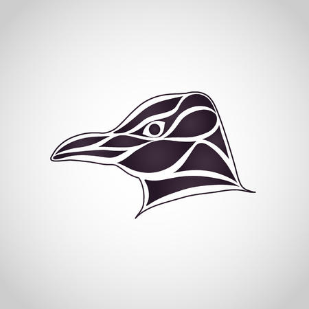 Penguin logo vector icon illustrator. Illustration