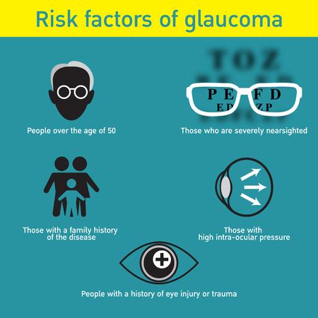 Glaucoma vector logo icon design. Illustration