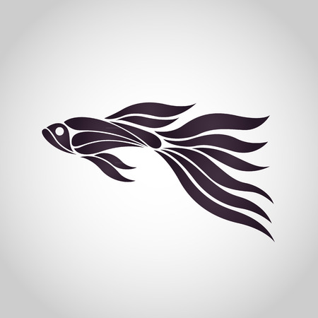 GUPPY FISH logo vector icon design illustrations.