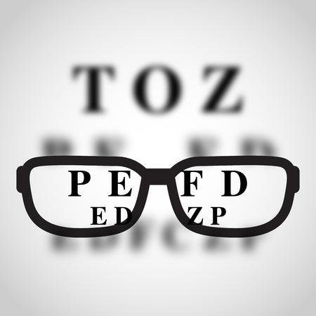 Short sighted logo vector.