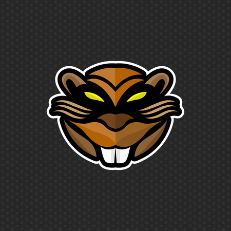 beaver logo design template ,beaver head icon Vector illustration
