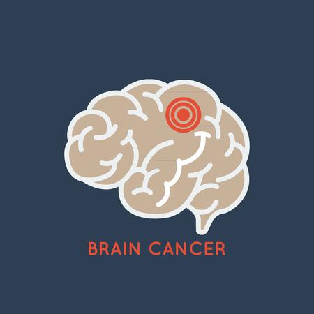 Brain cancer logo vector icon design