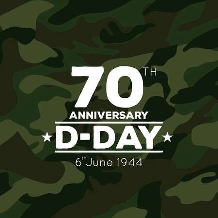 70th anniversary of D-Day vector icon Illustration