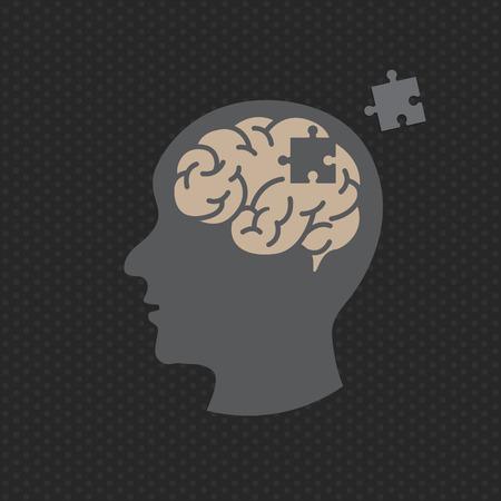 Dementia illustration vector logo icon design