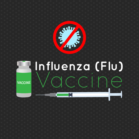 influenza: vector illustration for influenza vaccination Illustration