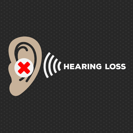 Hearing Loss illustration logo vector icon design Ilustrace