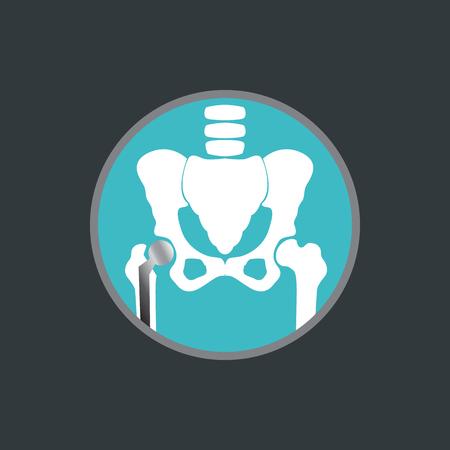 Hip replacement logo vector icon design