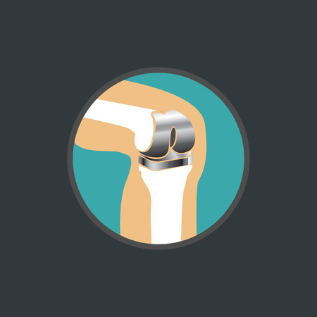 Icon of knee replacement.