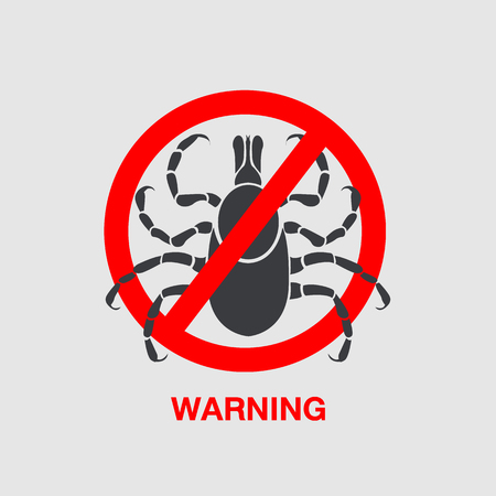 lyme disease: tick borne diseases vector icon logo design Illustration