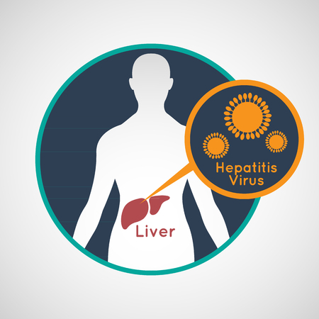 Vector illustratie van hepatitis