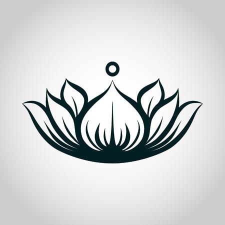 Lotus Logo Vektor Illustrator Standard-Bild - 83244479
