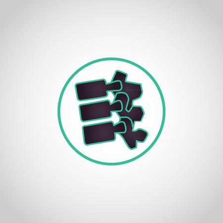 Spine logo icon vector illustration