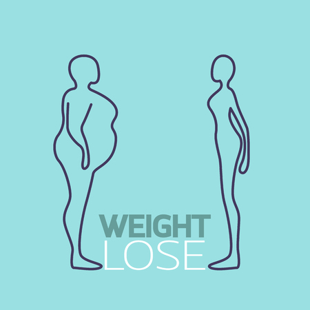Weight lose logo vector icon illustration
