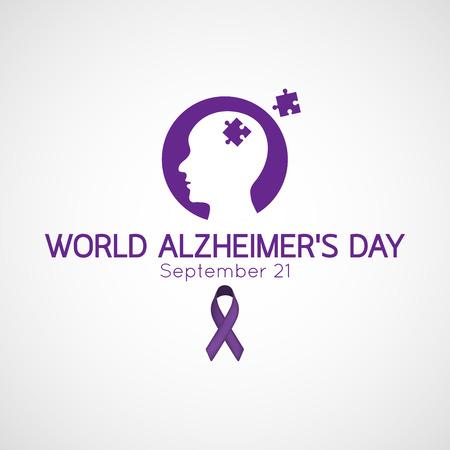 세계 알츠하이머의 일러스트 레이션