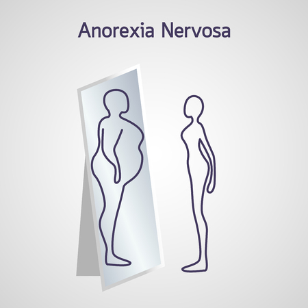 Anorexia Nervosa vector icon illustration