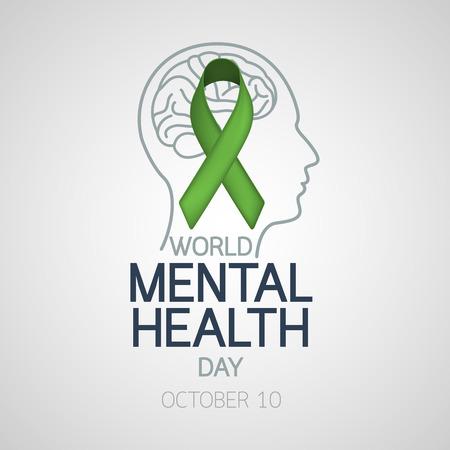 Vecteur de la santé mentale icône de la journée illustration vectorielle Banque d'images - 85112465