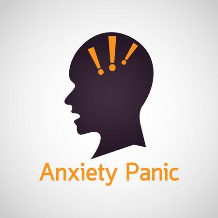Anxiety Panic vector icon illustration Illustration