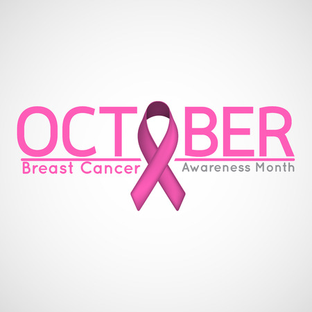 Breast Cancer Awareness Month vector icon illustration Çizim