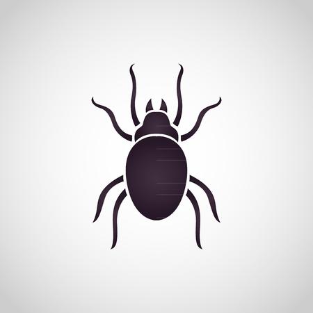 Dust mites logo vector illustration