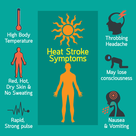 Heat stroke infographic vector illustration Illustration