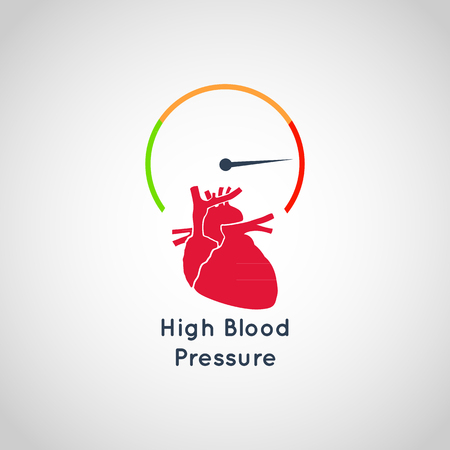 High Blood Pressure vector icon design 免版税图像 - 85112422