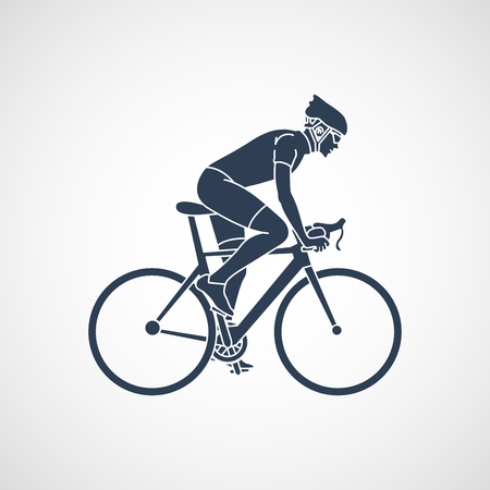 cycling race vector icon illustration