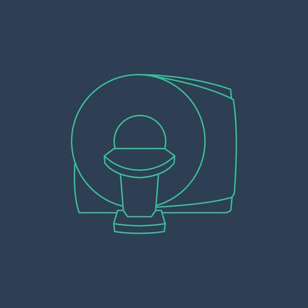 CT Scanner machine icon vector symbol Illustration