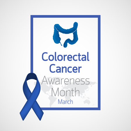 Colorectal Cancer Awareness Month vector icon illustration Çizim