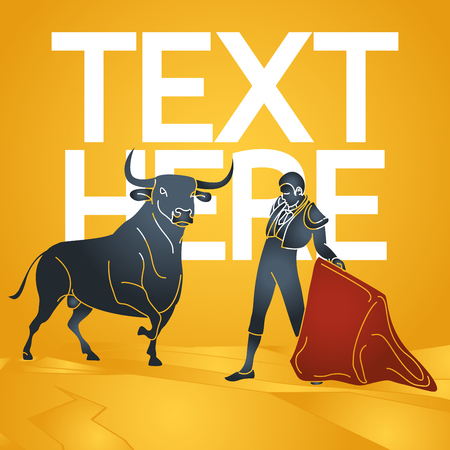 Bull fighting vector icon illustration Ilustrace