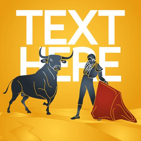 Bull fighting vector icon illustration Illustration