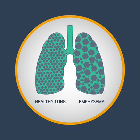 EMPHYSEMA vector logo icon illustration