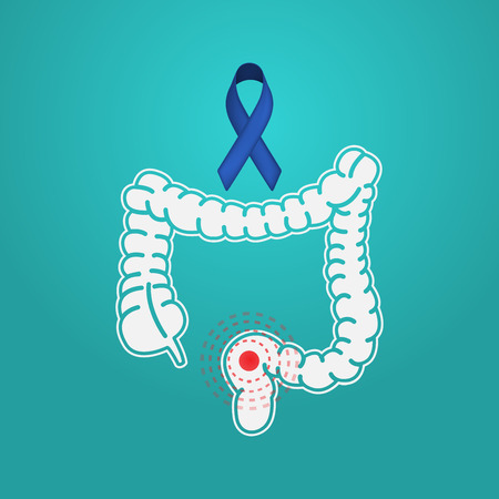 Colon Cancer vector logo icon illustration