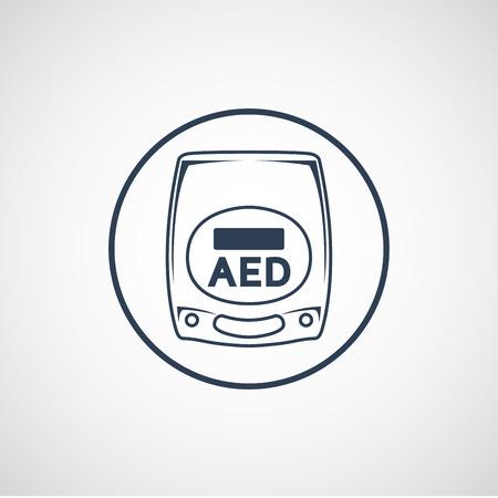 AED 벡터 로고 아이콘 일러스트 레이션 스톡 콘텐츠 - 87122835