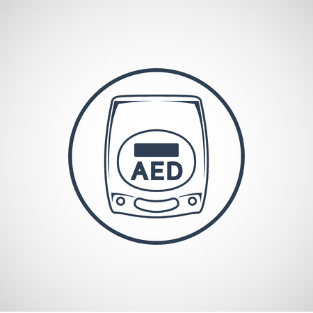 AED vector logo icon illustration