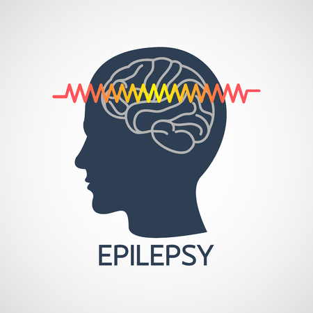 EPILEPSY vector logo icon illustration