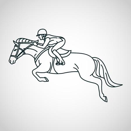 Paardenrace. Paardensport vector logo pictogram illustratie