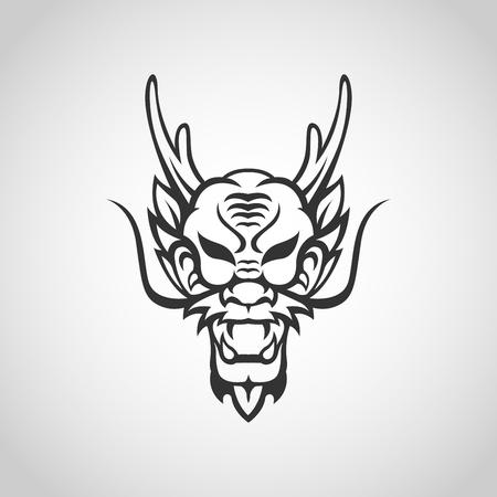 Dragon vector logo icon illustration Illustration
