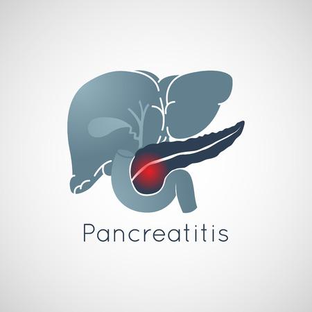Pancreatitis vector logo icon illustration